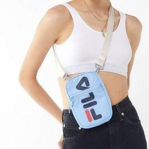 FILA Camera Crossbody Messenger Bag Blue NWT